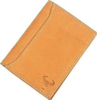 Genuine Leather Bifold Wallet for Men - Slim Minimalist Vertical Design - Front Pocket Travel Purse - RFID Blocking