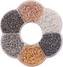 """YAKA 3000Pcs 5mm1Box 6 Colors Open Jump Ring,Ring Jewelry Keychain for Jewelry Making Accessories,1Pcc Jump Ring Open/Close Tool and 1Pcs Clear Box (0.19""""/5mm)"""