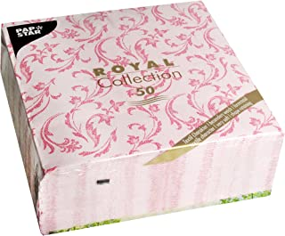 Home Collection Maison Cuisine Set 40 Serviettes de Table Jetables 3 Plis Motif Rose Flamingo