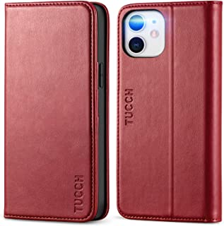 TUCCH iPhone 12 Case,iPhone 12 Pro Case, PU Leather Wallet Case with TPU Shell, Card Slots, Kickstand, Protective Flip Cas...