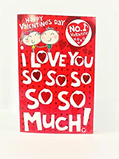 I Love You So Much Valentine's Day Greeting Card With Badge No.1 Valentine