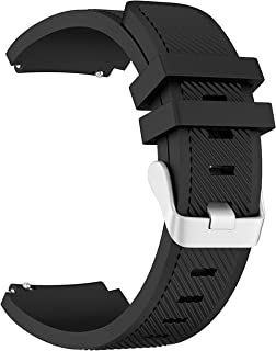 Samsung Gear S3 Frontier/Classic Watch Band, FanTEK 22mm Silicone Replacement Sport Strap with Quick Release Pins, Black