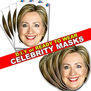 Celebrity Card FACE MASK KIT - Hilary Clinton - DO IT Yourself (DIY) #4