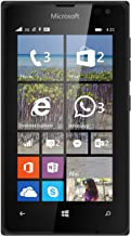Microsoft Nokia Lumia 435 8GB Unlocked GSM Windows 8.1 Touchscreen Smartphone Black (International version, No Warranty)