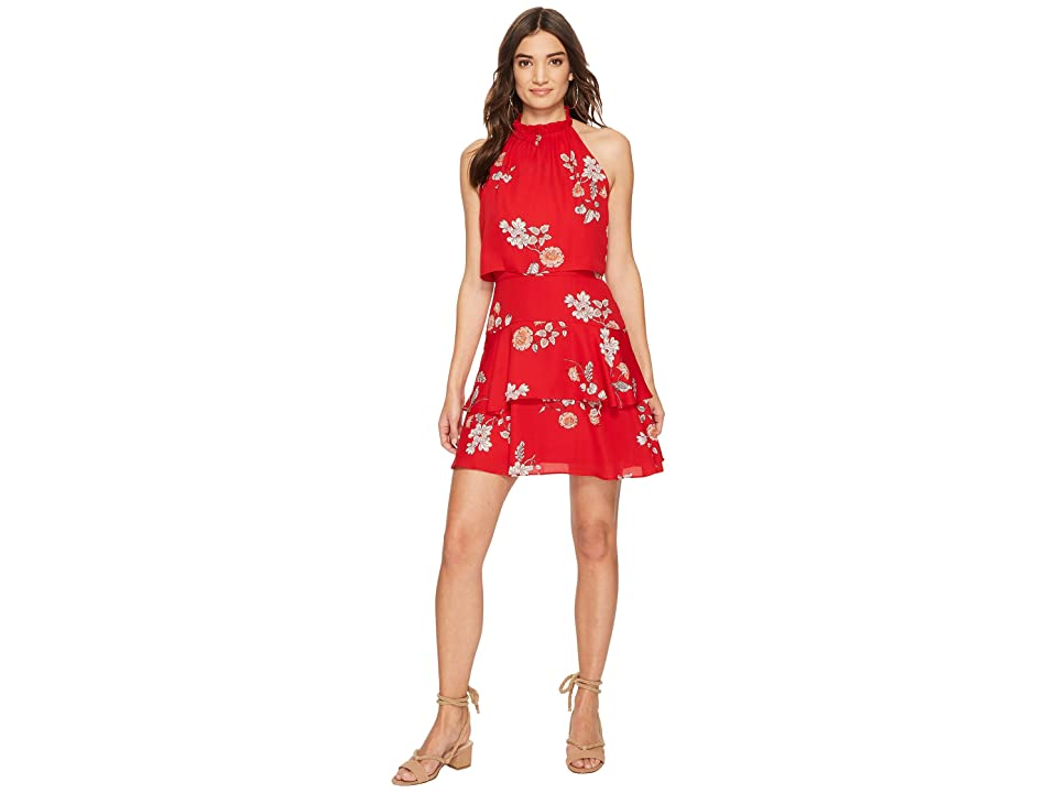 BB Dakota Cadence Ruffle Dress (Red) Women
