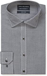 Van Heusen Men's Euro-Tailored Fit Micro Check Business Shirt