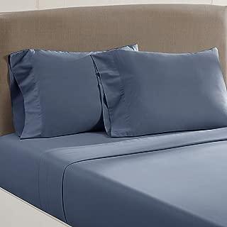 Amrapur Overseas Vintage Washed 100-Percent Cotton 4-Piece Sheet Set, Queen, Dark Blue
