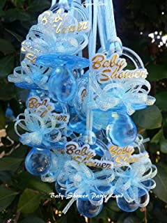 Pacifier Necklaces Baby Shower Games Favors Prizes 12 Blue or 12 Pink, You Pick!!. Boy's, Girl's (Blue)