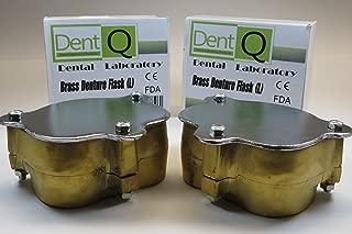 Denture Flask Large Dental Lab Brass Press Compress Laboratory Kit/2Uds DentQ