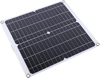 CXTU Solar Panel,20W 18V Solar Panel Dual USB Output Outdoor Portable Mobile Phone Battery Charger,for Outdoor Emergency C...