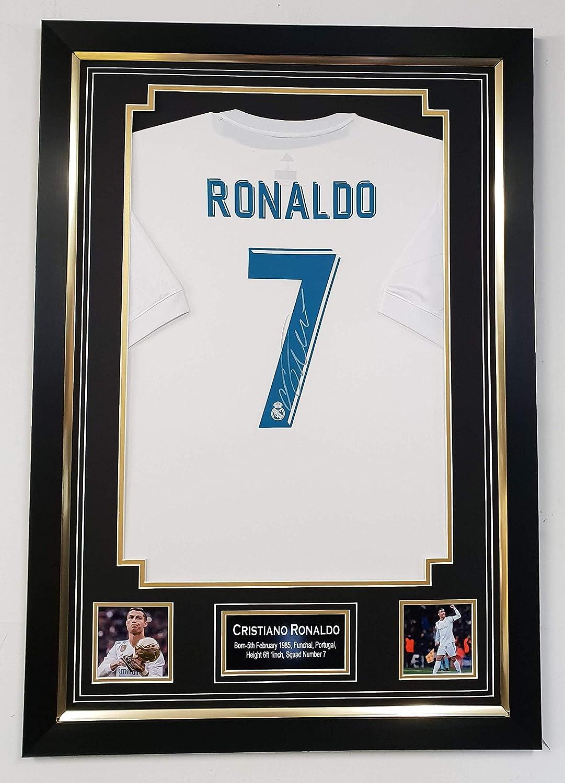 WWW.SIGNEDMEMORABILIASHOP.CO.UK Cristiano Ronaldo of Real Madrid Signed Shirt Autographed Jersey