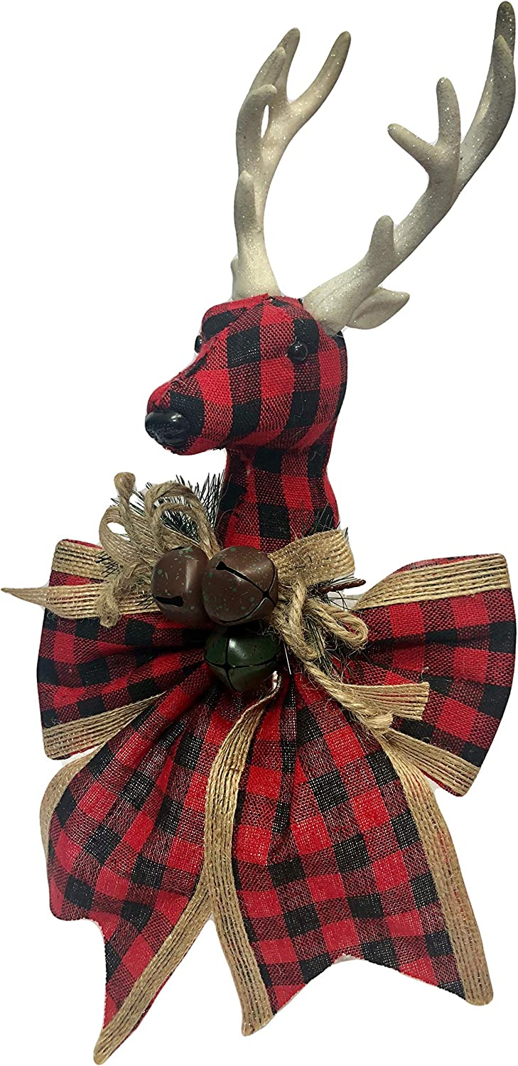 Burlap Surprise price and Plaid OFFicial Country Non-Lit Ornament Tree Topper Christmas