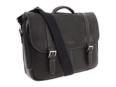 Kenneth Cole Reaction Colombian Leather Flapover Portfolio/Computer Case (Black) Computer Bags