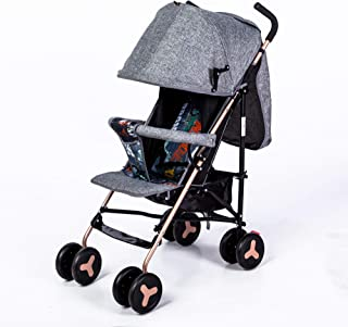 Foldable Baby Stroller-Grey/Silver