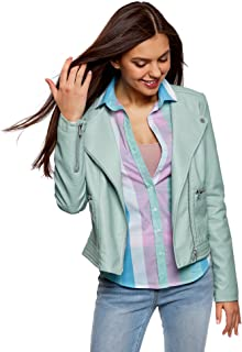 Best turquoise faux leather jacket Reviews