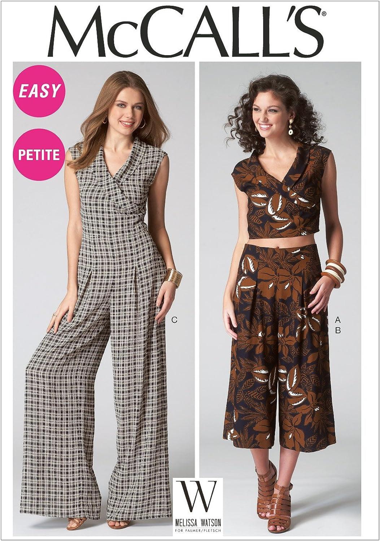 McCall's Patterns M7133 Misses' Miss Petite Top Pants & Jumpsuit, N A, Size A5 (68101214)