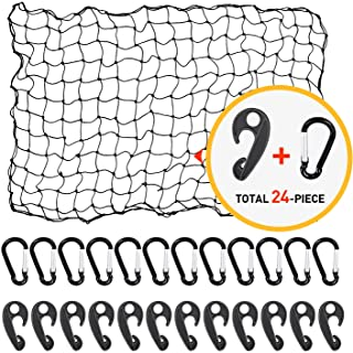 4'x6' Bungee Cargo Net for Truck Bed Stretches to 8'x12'   No Gaps Securing Cargo Nets to Rooftop Carrier, Roof Rack, Carg...