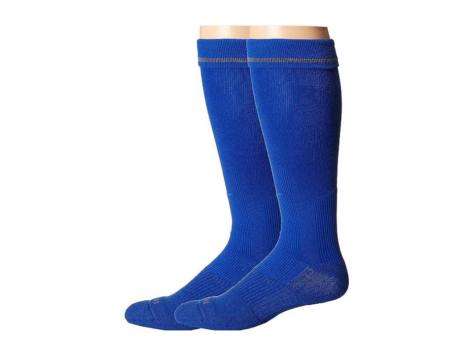 Nike 2 Pair Pack Baseball Sock (Game Royal/Game Royal) Crew Cut Socks Shoes, Blue