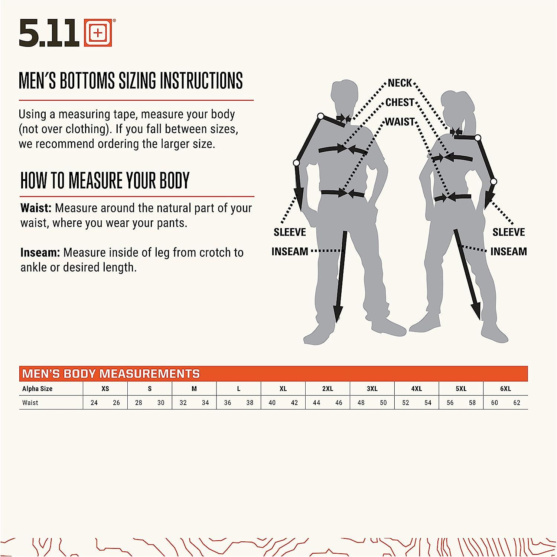 5.11 Pantalon Tactique Taclite PDU de Classe A pour Homme avec revêtement en téflon, Style 74370 Marron