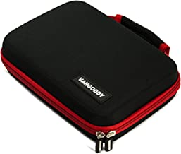 Vangoddy Harlin Premium Hard Shell Protective Red Trim Storage Case for Magellan RoadMate/Commercial/TR5/TR7 4.3