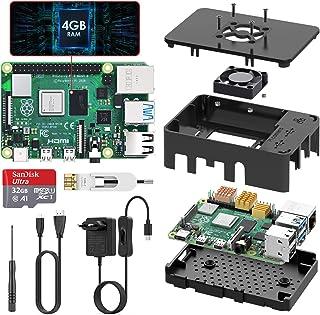 TICTID Raspberry Pi 4 Modelo B 4GB Kit, Versión Actualizada de Raspberry pi 3 con Tarjeta MicroSD de 32GB, Adaptador tipoC...