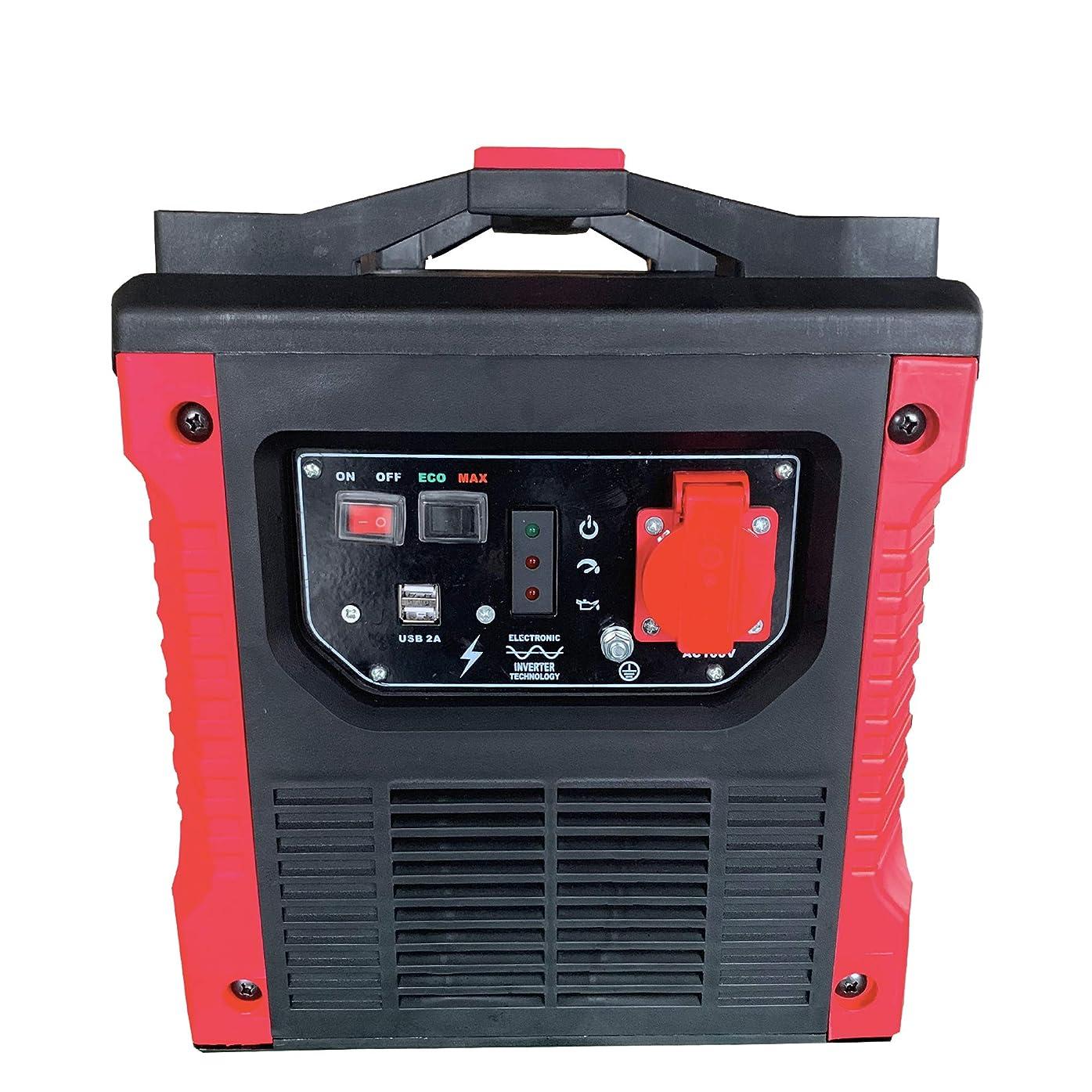 焦げ若いビジュアル正弦波 インバータ発電機 1500w 100vコンセント 2A USB2ヶ所 搭載 耐震設計 コンパクト軽量 災害 キャンプ