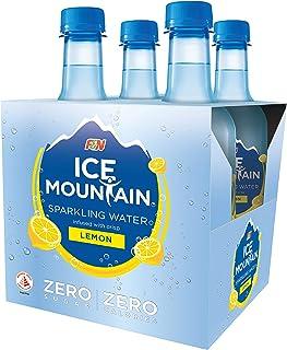 Ice Mountain Sparkling Water, Lemon, 350ml (Pack of 4)
