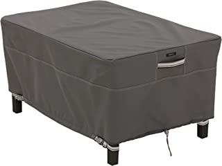 Classic Accessories Ravenna Patio Rectangle Ottoman/Side Table Cover, Small