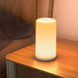 【最新版】ベッドサイドランプ テーブルランプ ナイトライト タッチセンサー式 調光調色 暖白+RGB変換ライト インテリア 常夜灯 授乳灯 連続照明 目に優しい おしゃれ ギフト 日本語説明書付き