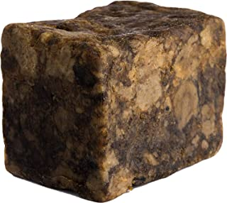 Raw African Black Soap, 100% All Natural by Raw Apothecary- Fair Trade Certified, Cruelty Free, Organic and Unrefined (1 P...