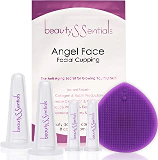 Facial Cupping Set for Glowing Skin - Face Anti Aging Massage Reduces Fine Lines & Wrinkles, Instant Facelift, Boost Colla...