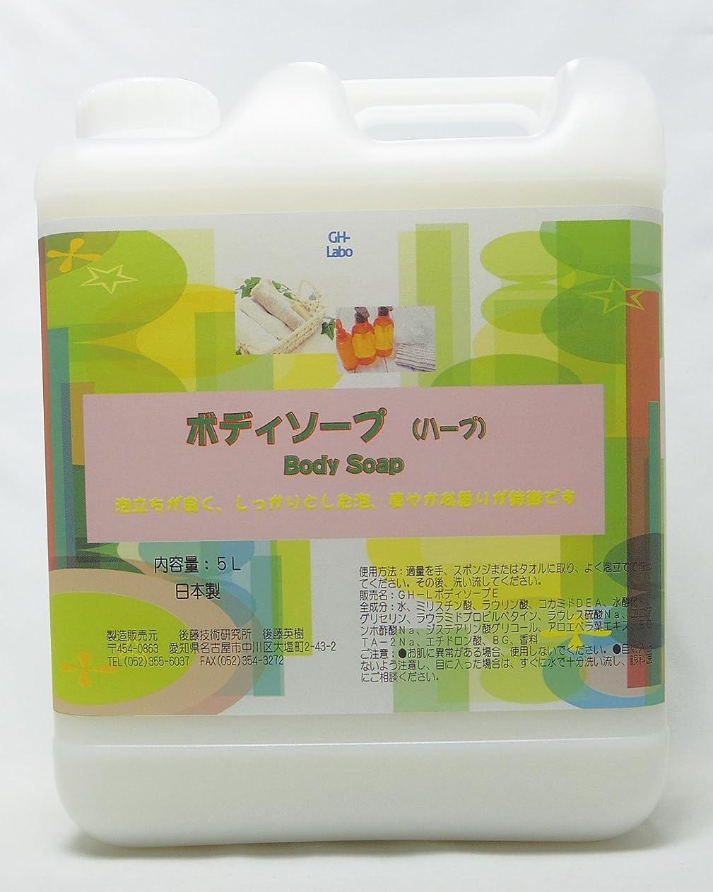 アプローチ狭い夜GH-Labo 業務用ボディソープ ハーブ(セージ)の香り 5L