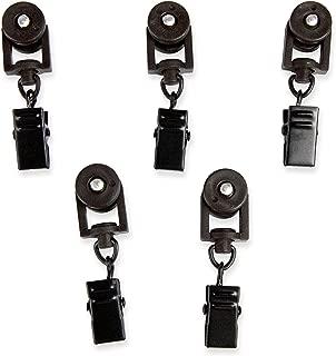 Rod Desyne 10 Sliders for CH Track Traverse Rods, Black