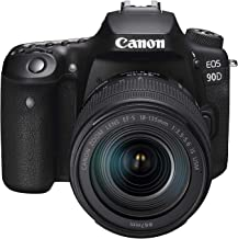 Canon 90DSK Digital Camera - SLR Canon EOS 90D DSLR with EFS 18-135mm f/3.5-5.6mm is STM Lens, Black (90DSK)