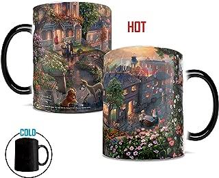 Disney Thomas Kinkade - Lady and the Tramp - Morphing Mugs Heat Sensitive Mug - Color changing ceramic mug