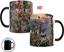 Disney Thomas Kinkade - Lady and the Tramp - Morphing Mugs Heat Sensitive Mug - Color changing ceramic mug