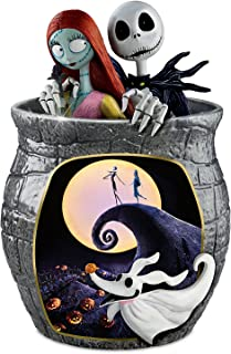 The Nightmare Before Christmas Cookie Jar With Jack Skellington And Sally by The Bradford Exchange