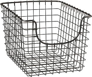 Spectrum Diversified Scoop Wire Basket, Vintage-Inspired Steel Storage Solution for Kitchen, Pantry, Closet, Bathroom, Cra...