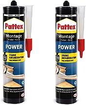 Pattex 9H PXP37X Montagelijm, 740 g, bouwlijm met sterke hechting, krachtlijm voor absorberende materialen, lijm voor binn...