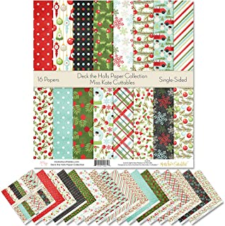 "Sponsored Ad - Pattern Paper Pack - Deck The Halls - Christmas - Scrapbook Specialty Paper Single-Sided 12""x12"" Collection..."