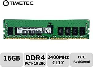 Timetec Hynix Original 16GB DDR4 2400MHz PC4-19200 Registered ECC 1.2V CL17 1Rx4 Single Rank 288 Pin RDIMM Server Memory RAM Module Upgrade (16GB)