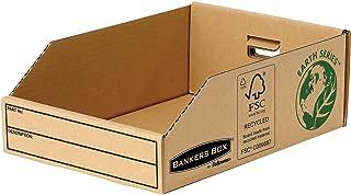 Fellowes 07355EU Boite pour petites fourniture 20cm Banker Box Earth Series - Montage manuel (lot de 50)