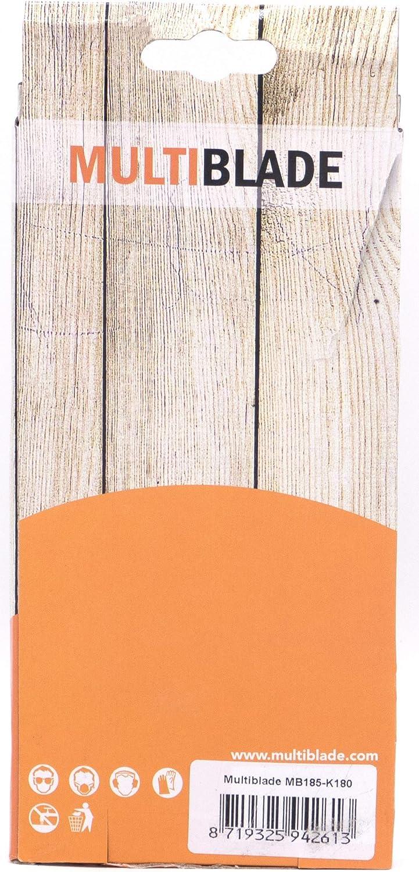 8 L/öcher f/ür Holz und Metall Multiblade Professioneller Klett Schleifblatt 185x93mm F/ür Schwingschleifer Profesioneller Qualit/ät Korn 40 10 St/ück