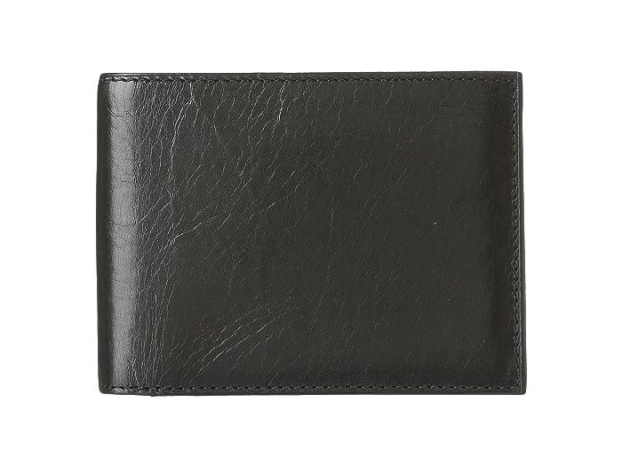 Bosca  Old Leather Continental I.D. Wallet (Black) Wallet Handbags