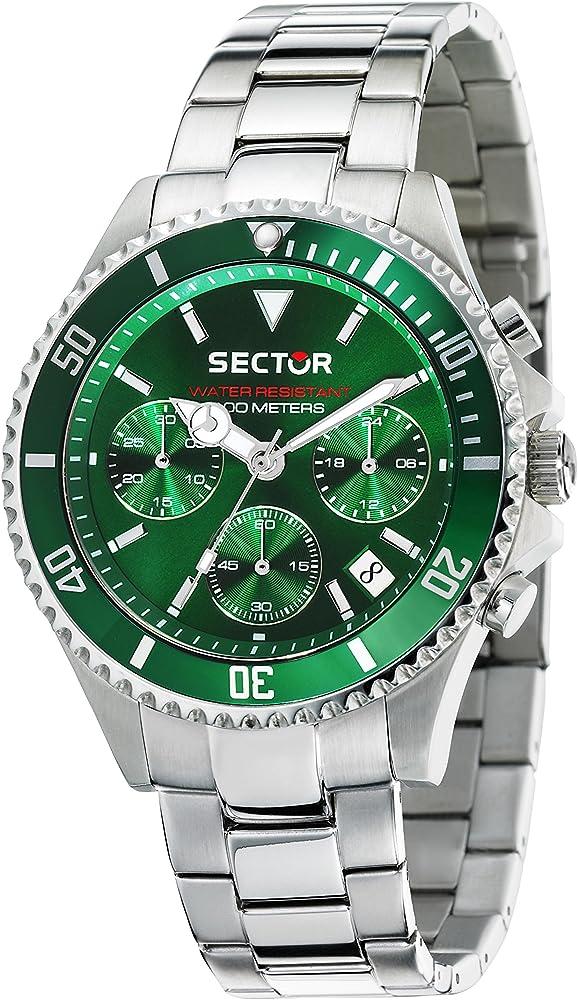 Sector no limits orologio cronografo uomo con cinturino in acciaio 8033288809586