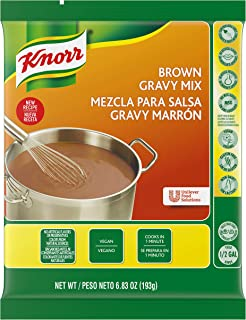 Knorr Professional Brown Gravy Mix Vegan, Gluten Free, No Artificial Flavors or Preservatives, No added MSG, Dairy Free,Co...