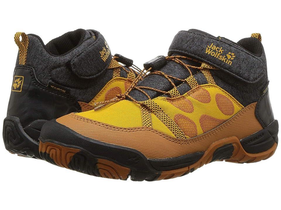 Jack Wolfskin Kids Jungle Gym Texapore Mid (Toddler/Little Kid/Big Kid) (Jaguar) Boys Shoes