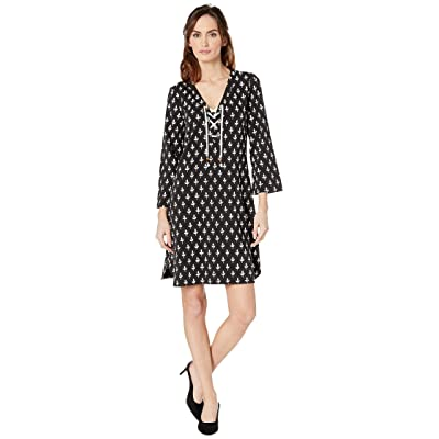 Hatley Dani French Terry Dress (Black Tiny Buds) Women