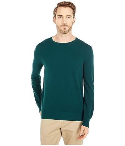 J.Crew Cotton-Cashmere Pique Crewneck Sweater (Old Forest) Men