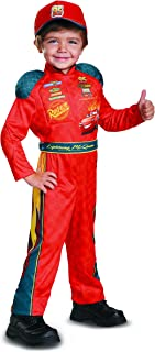 Cars 3 Lightning Mcqueen Classic Toddler Costume, Red, Small (2T)